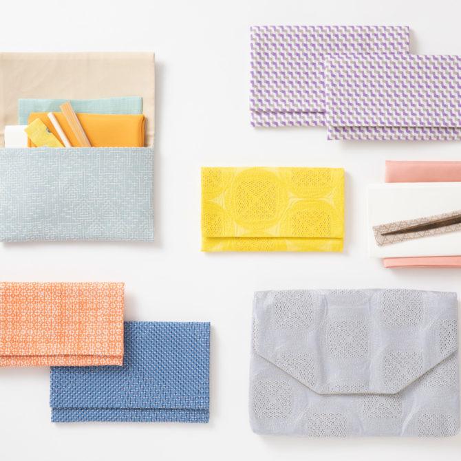【見世】懐紙入れ・数寄屋袋に色とりどりのテキスタイルが新登場
